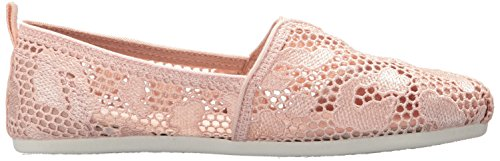 Skechers Plush Women's Bobs Ballet Crochet Leopard Flat Pink Light ArZAw