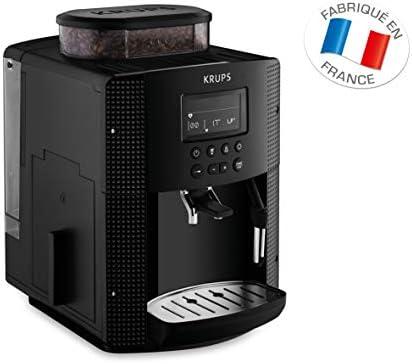 KRUPS ESSENTIAL NOIRE Machine à café à grain Machine à café broyeur grain Cafetière expresso Ecran LCD Nettoyage automatique Buse vapeur Cappuccino YY8135FD