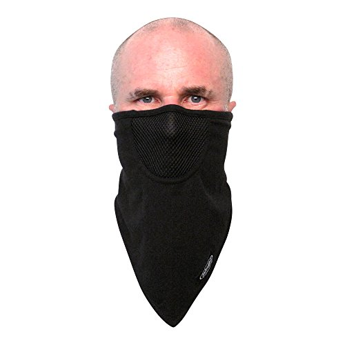 Schampa Unisex-Adult Hook and Loop Facemask (Black, OSFM)