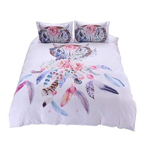 3 Pieces Dreamcatcher Duvet Cover Set Vine_MINMI Bedding Cover Sets Bohemian Dream Catcher Follow Your Dreams Bedspread