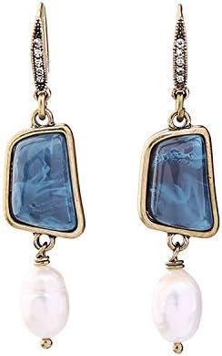 Pendientes largos de diamantes accesorios retro europeos y americanos femeninos joyas salvajes señoras piedras preciosas pendientes de perlas de diamantes
