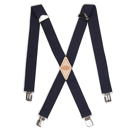 Dickies Men's 1-1/2 Solid Straight Clip Suspender,Navy,One Size]()