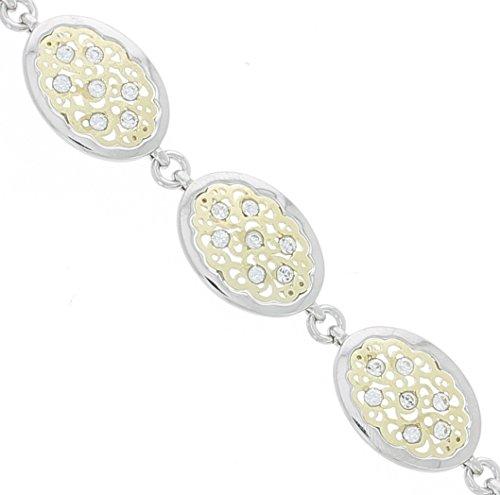 Bijoux Irina - Bracelet Azuleros Dorés en Argent & Zirconiums
