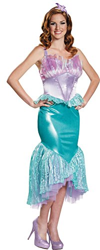 Womens Halloween Costume- Ariel Deluxe Adult Costume Small