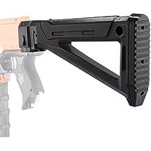 Shoulder Stock, PINCHUANGHUI Worker f10555 3D Printing Foldable AK Mold Shoulder Stock Tail Stock for Nerf N-strike Elite Series - Black