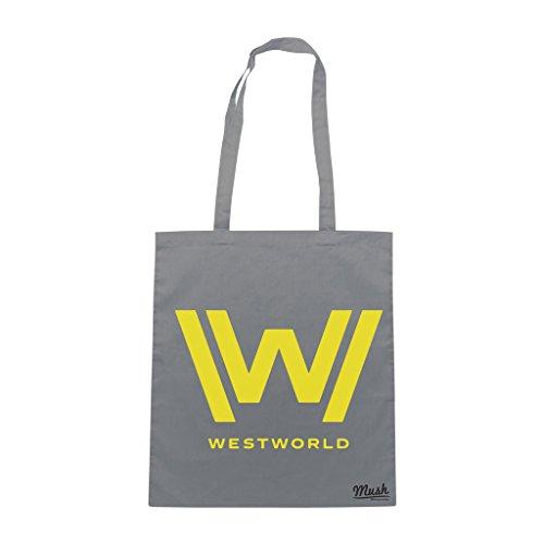 Borsa WEST WORLD LOGO - Grigio - FILM by Mush Dress Your Style Más Reciente Es El Precio Barato Mejor Precio Barato Vendedor Wiki En Venta H6OA0