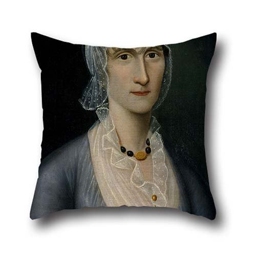 16 X 16 Inches / 40 By 40 Cm Oil Painting Joshua Johnson - Portrait Of Mrs. Barbara Baker Murphy (Wife Of Sea Captain) Pillow Shams,twin Sides Is Fit For - Captains Bed Cream
