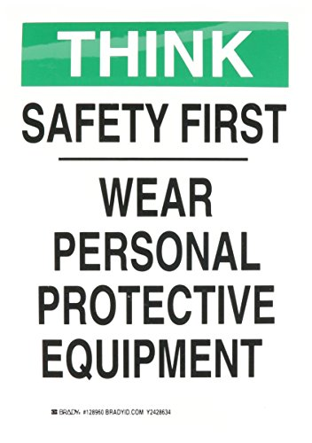 Brady 128960 Personal Protection Sign, Legend