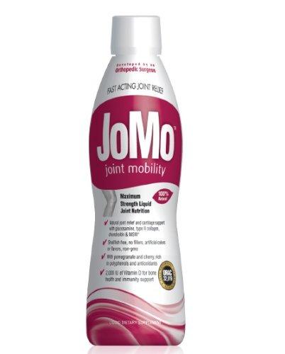 JoMo liquide Vegetarian Glucosamine douleurs articulaires et l'arthrite Supplement (MOLLUSQUES GRATUIT). Contient du collagène (type II) et de chondroïtine avec MSM + 2000 UI de vitamine D. Cerisier naturel et à la grenade (sans conservateurs ou des charg