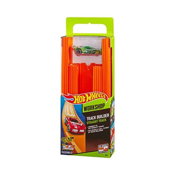 Hot Wheels- Track Builder Confezione da 15 Rettilinei e Veicolo Incluso, Multicolore, BHT77 6 spesavip