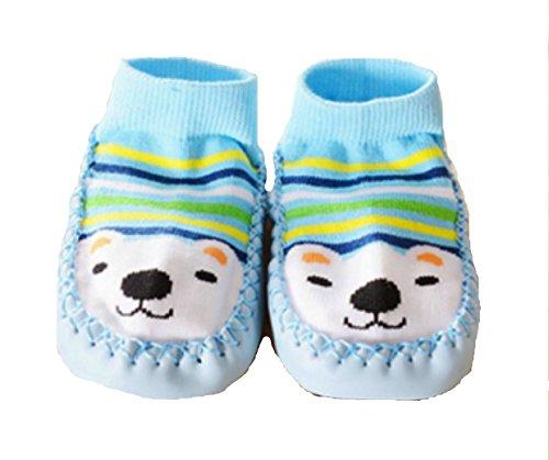 Zapatillas calcetines bebé con suela antideslizante de 6a 24Meses rosa rosa Talla:6 a 12 meses turquesa
