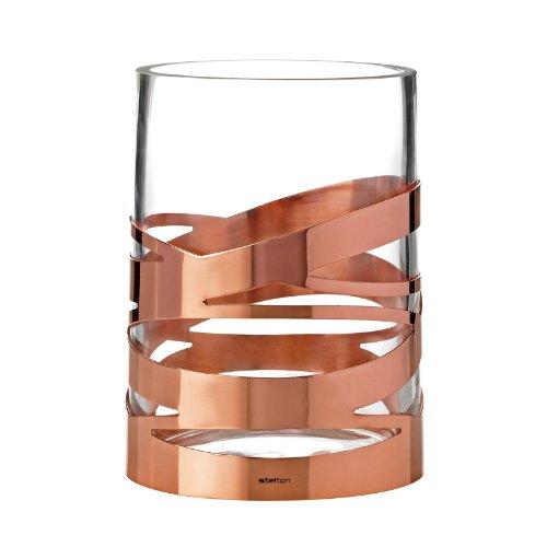 Stelton Tangle Vase - 16,5 cm, Designer Flowervase, Glass, Stainless Steel, Copper, x-56