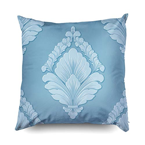 - Asdecmoly Decorative Pillowcase Damask Pattern Element Elegant Luxury Embossed Texture Wallpapers Pillow Case Cover for Kids Throw Cushion Square 20X20 Inchs Home Sofa Bed Travel Gift