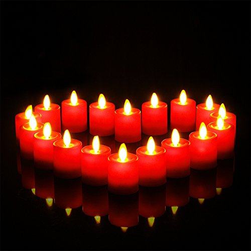 Pack of 12 Rechargeable Votives Moving Flame Flameless LED Tealight Candles with Remote Control and Timer by NONNO&ZGF (Image #5)