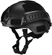 Military Tactical Helmet Airsoft Gear Paintball Head Protector with Night Vision Sport Camera Mount,Portable T