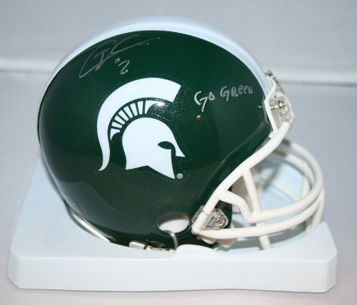 William Gholston Michigan State Spartans NCAA Autographed Mini - Ncaa Autographed Helmets Mini