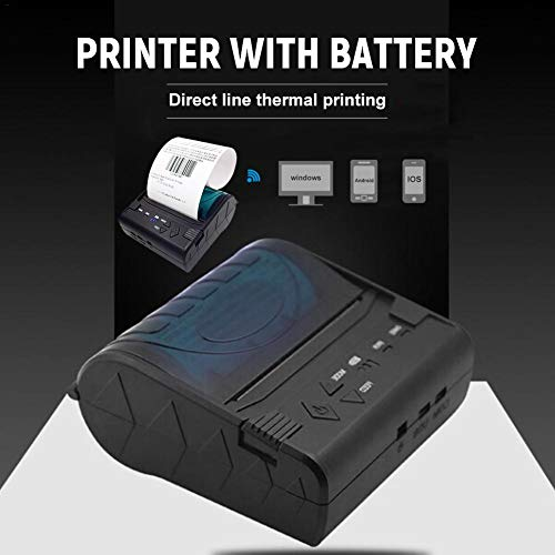 80MM Thermal Printer Support Windows Bluetooth and USB Black 7 Android and 1 IOS Wireless by Oshide (Image #3)