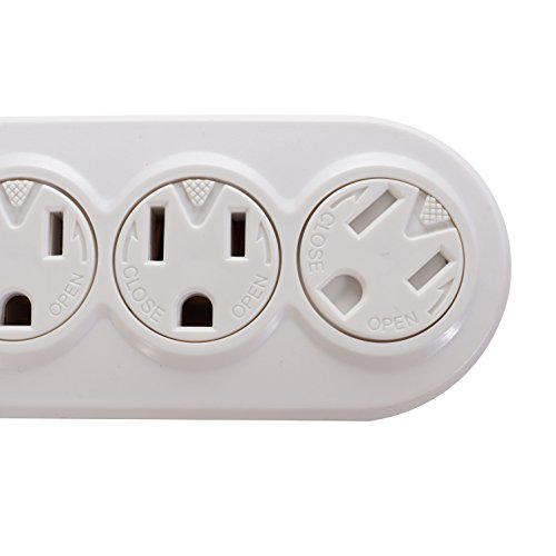 10Ft 6-Outlet Perpendicular Power Strip by Prime Wire & Cable (Image #2)