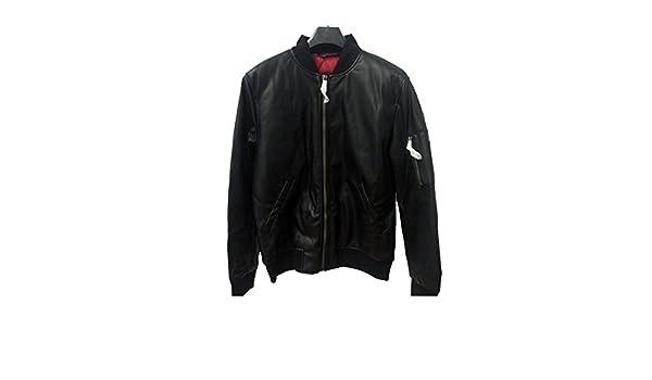 Zara hombres chaqueta de Bomber de piel sintética para 0706/310 ...