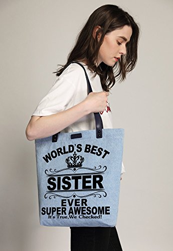 Shopper Handbag Sister Women's Tote World's Dye Azul Denim Best So'each Shoulder Bag xdqYz0nAA