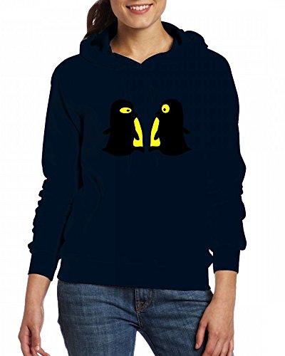 2 Little penguins Womens Hoodie Fleece Custom Sweartshirts
