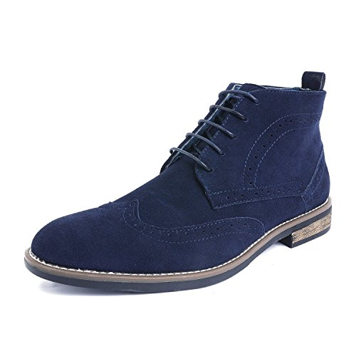 Bruno Marc Men's URBAN-02 Navy Suede Leather Lace Up Oxfords Desert Boots Size 14 M US