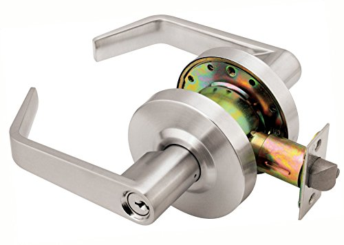 Dynasty Hardware AUG-05-26D Grade 2 Commercial Duty Storeroom Function Keyed Lever Lockset, ADA, Satin Chrome - Set Office Door Function Knob