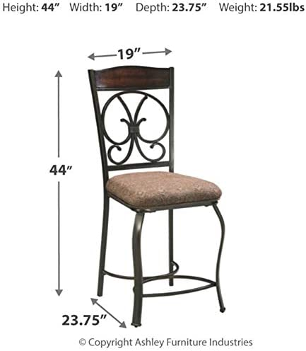 home, kitchen, furniture, game, recreation room furniture, home bar furniture,  barstools 11 discount Signature Design by Ashley - Glambrey Upholstered Barstool - Set in USA