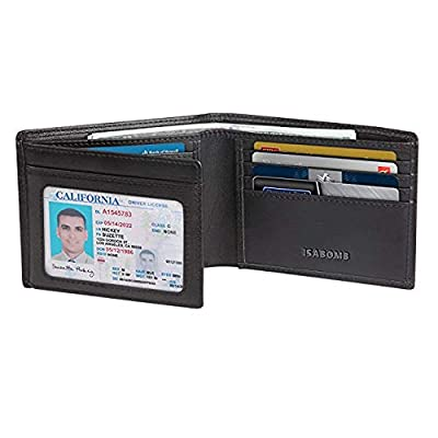 Men Wallet,RFID Blocking Genuine Leather Wallet Trifold Bifold Money Clip [Handmade] Wallet for Men
