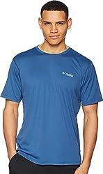 Columbia Men's PFG Zero Rules¿ S/S Shirt Night Tide Medium