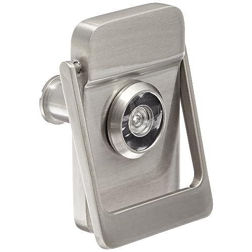 Door Knocker with Door Eye Viewer in Satin Nickle