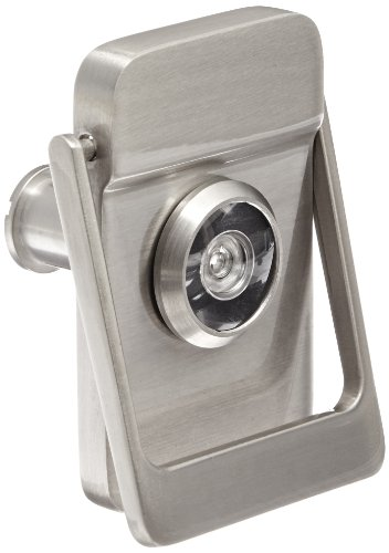 Brass Coated Knocker - Rockwood 614V.15 Brass Door Knocker with Door Viewer, 2-1/8