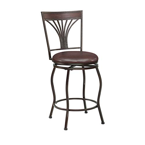 Tremendous Ravenna Home Wood And Metal Detailed Swivel Kitchen Bar Stool 44 Inch Height Dark Espresso Creativecarmelina Interior Chair Design Creativecarmelinacom
