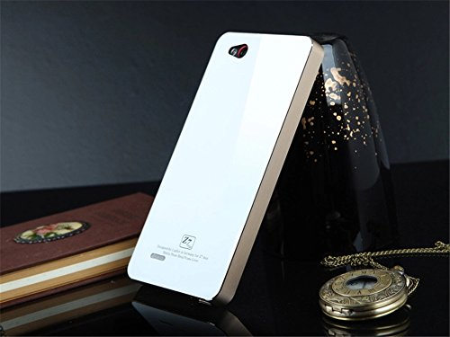 DAYJOY New Ultra Thin No Need Screw Aluminum Alloy Protective Metal Bumper Frame Shell Case Cover + 1PC Tempered Glass screen protector Film for ZTE NUBIA Z7 MAX (GOLDEN+WHITE)