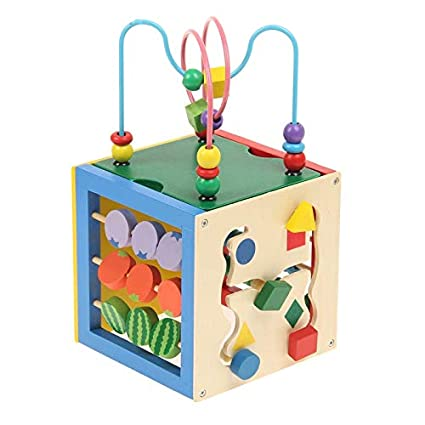 Buy Funblast Wooden Activity Cube Toy Learning Activity Center