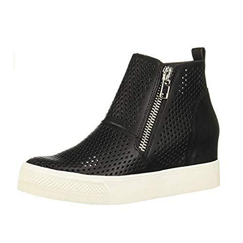 Nero Scarpe Da pu 5cm Donna Pelle Mocassini Comode Tacco Platform Con 34 Alte Grigio Sneakers Nero Ginnastica Zeppa Stivaletti 43 Eleganti Beige Estive 4BayWxqg
