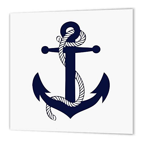 3dRose ht_193348_1 Anchor. Navy-Iron on Heat Transfer Paper for White Material, 8 by - Anchor Transfers On Iron