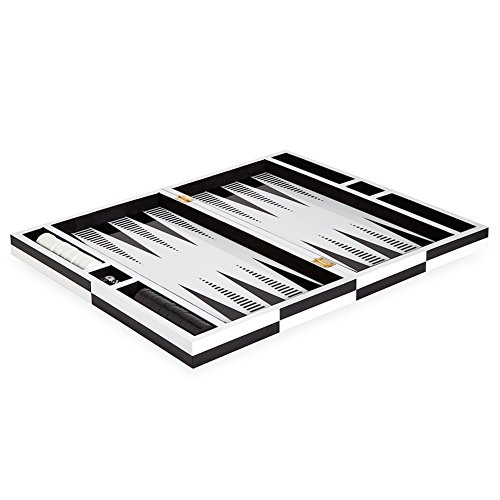 Jonathan Adler Women's Op Art Backgammon Set, Black/White, One Size