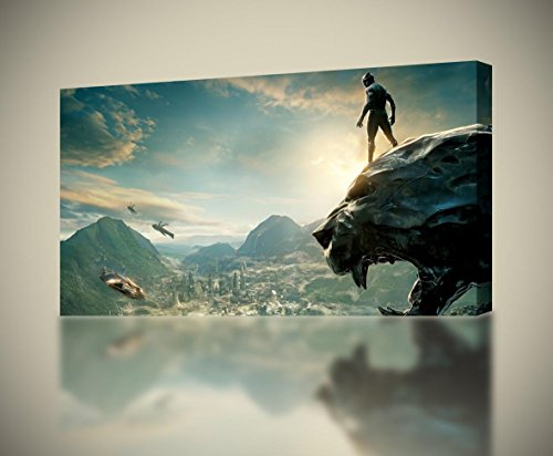 Black Panther Marvel Super Hero CANVAS PRINT Wall Decor Giclee Art Poster CA982, Large ()