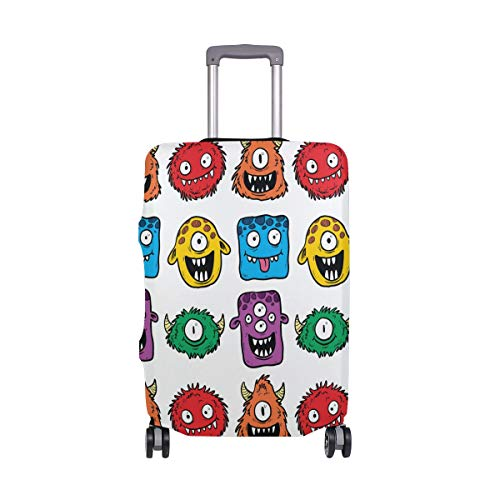 FOLPPLY Funny Colorful Monster Luggage Cover Baggage Suitcase Travel Protector Fit for 18-32 Inch ()