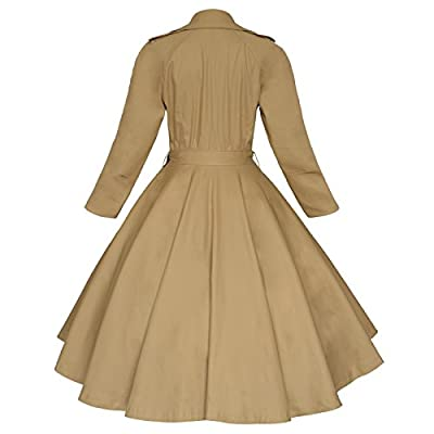 Maggie Tang Vintage Elegant Swing Coat Rockabilly Tunic Classical Party Dress