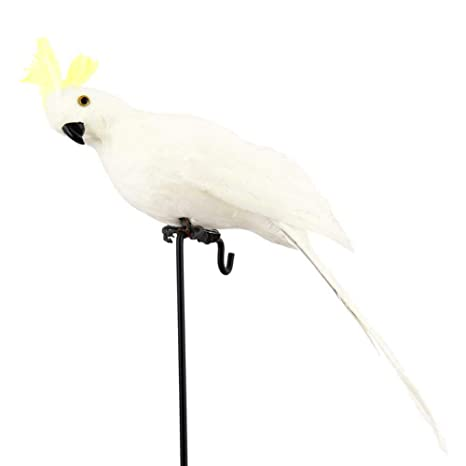 Figurine Artificial Bird Faux Feather Simulation Parrot Photography Props Model