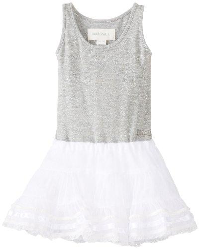 Diesel Baby-Girls Newborn Delenib Jersey Lurex Tank Dress with Layered Skirt