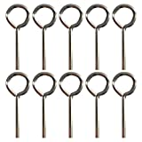 1/8' Standard Hex Dogging Key with Full Loop, Allen Wrench Door Key for Push Bar Panic Exit Devices, Solid Metal - 10 Packs