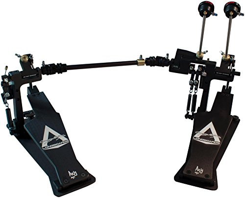 (Axis George Kollias Signature Edition Double Bass Drum Pedal Classic Black)