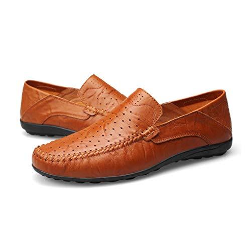 conducción Zapatos Deslizadores de de F y Verano Mocasines los Mocasines Cuero de Hombres Confortables Primavera Zapatos Caminar para cómodos otoño ppxnFOU