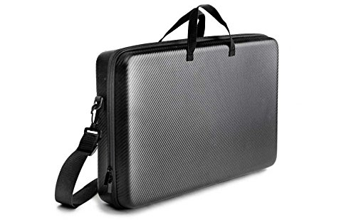 Kenley Carrying Case for Pioneer DJ DDJ-SB2 Controller - Padded Insert & Shoulder Strap - Protective Storage Travel Bag Hard Cover for Pioneer DDJSB2 Portable 2-Channel Serato DJ Mixer - Carbon Black 4334203457