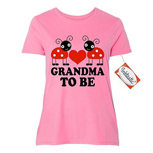 Inktastic Grandma To Be Red Ladybug Women's Plus Size T-Shirt 3 (22/24) Pink (Fashion Bug Plus Size)