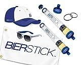 Bierstick Ultimate Package Deal - 2X Biersticks Flag Hat Sunglasses Extra Orings & Mouthpiece