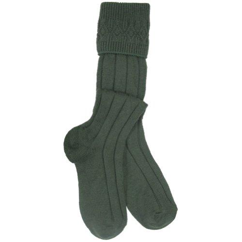 (Lovat Green Wool Mix Scottish Kilt Hose/Sock UK Made 9.5-13)